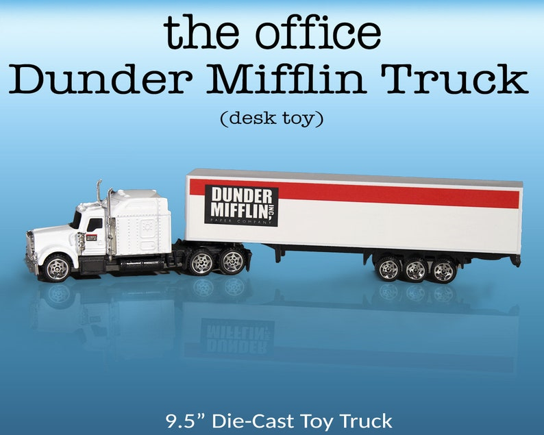Dunder Mifflin Truck  Replica Die-Cast Semi Truck Toy The image 0