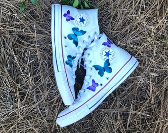 Butterfly Converse | Etsy
