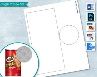 PSD 8.5x11 sheet blanks DIY Pringles Template PNG Format