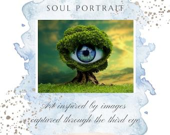Past life reading along with watercolor soul portrait | unique intuitive art | personal gift