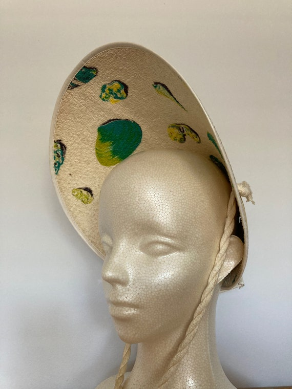 1940s  Vintage Summer Crown Hat
