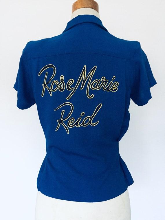 Rare 1950s Bowling shirt women