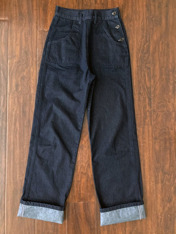 2000's Vintage-inspired 1950s Button Jeans Freddie