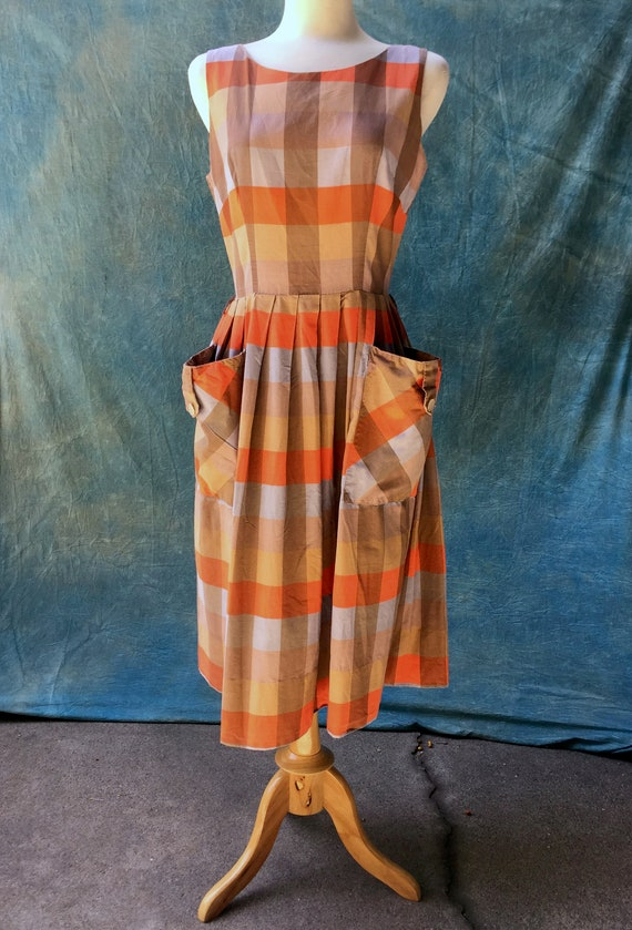 50's Vintage gingham Sun dress