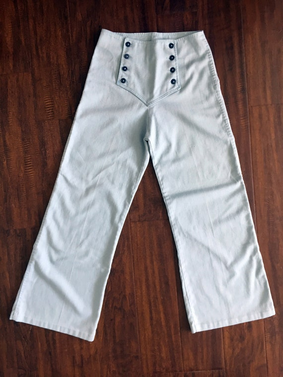 1970s Sailor women pants soft cotton