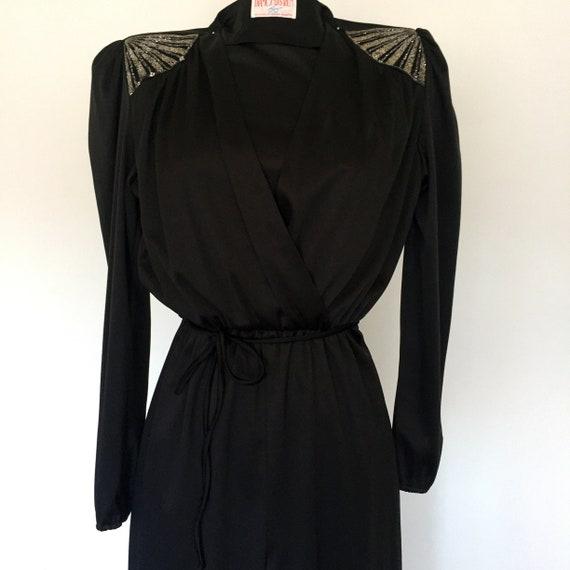 1980/'s Black Jumpsuit by DIAMOND RUN