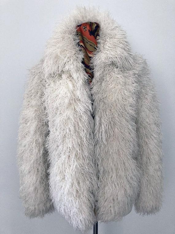 80s Vintage Arissa White Shag Jacket