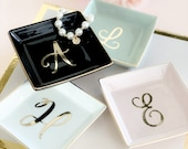 Personalized Ring Dish Personalized Bridesmaid Gifts Bridesmaid Jewelry Box Personalized Jewelry Dish Monogram Ring Dish  (EB3180SM) photo