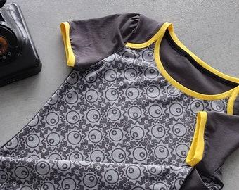 Retro T-Shirt for Women SONNENSTERN & MANGOSORBET in size S/meter