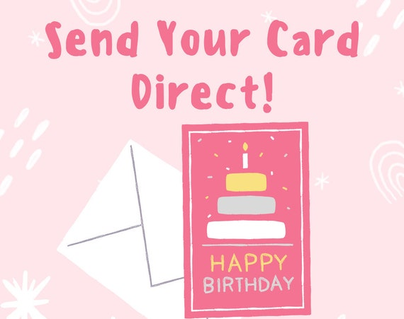 Send Your Card Direct With Your Own Message Inside| Wild Child Inc | Send Birthday Card Direct | Send Christmas Card Direct | Custom Message