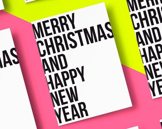 Basic Christmas Card  [5x7 Xmas card] Typography   Funny Card   Christmas Card  Holiday Season 2020