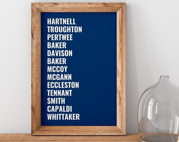 The Name Of The Doctor - Doctor Who Art Print  [A1, A2, A3, A4 & More Print] *Doctor Who *Whovian Gift Idea *Home Decor  *Modern Typography