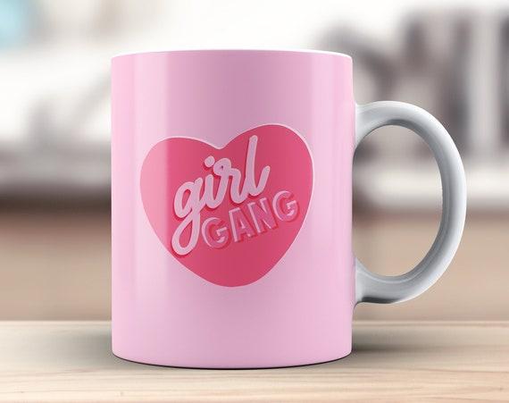 Girl Gang Coffee Mug   Ceramic Tea Cup   Secret Santa Gift   Stocking Filler Idea   Girl Power