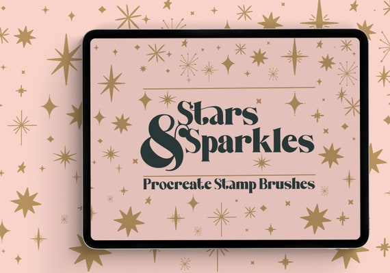 Procreate Stars & Sparkles Stamp Brushset - 16 Procreate Brushes for iPad