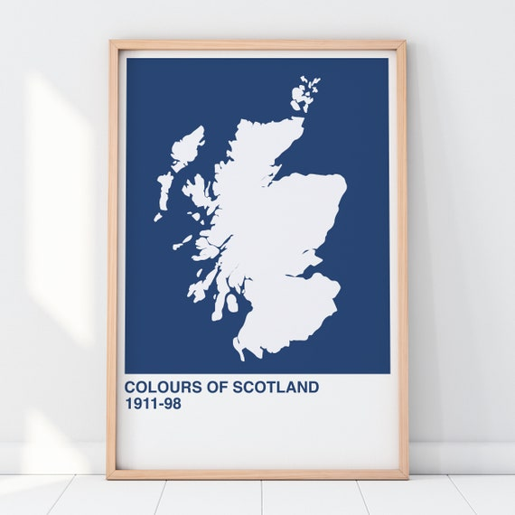 Colours Of Scotland Collection: Saltire St Andrew's Cross Art Print, Scottish Map Print, Scottish Wall Art