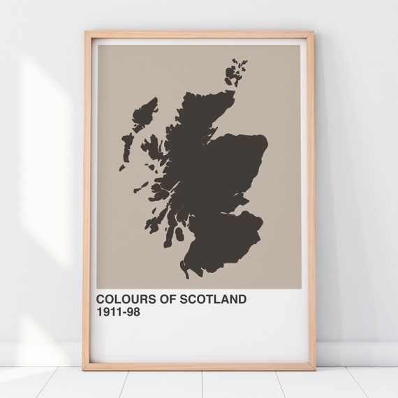 Colours Of Scotland Collection: Gin Art Print, Scottish Map Print, Scottish Wall Art