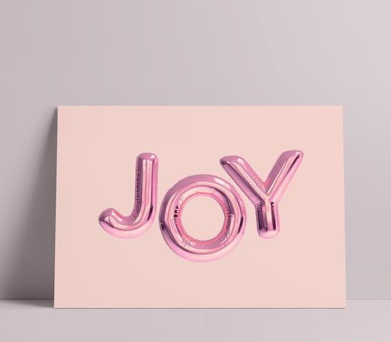 Joy Foil Balloon Modern Art Print [Unframed, A4/A3/A2/A1 & more]