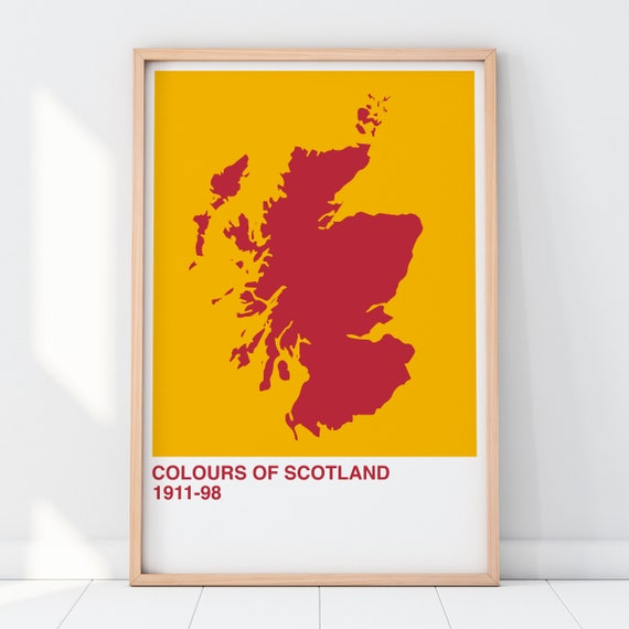Colours Of Scotland Collection: Iconic Lager Can Art Print, Scottish Map Print, Scottish Wall Art