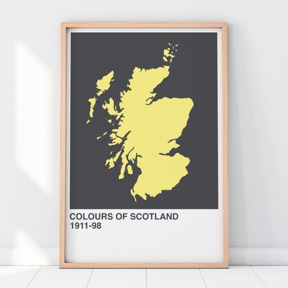 Colours Of Scotland Collection: Independence Art Print, Scottish Map Print, Scottish Wall Art