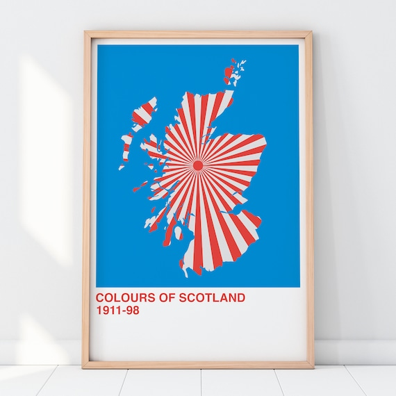 Colours Of Scotland Collection: Teacakes Art Print, Scottish Map Print, Scottish Wall Art