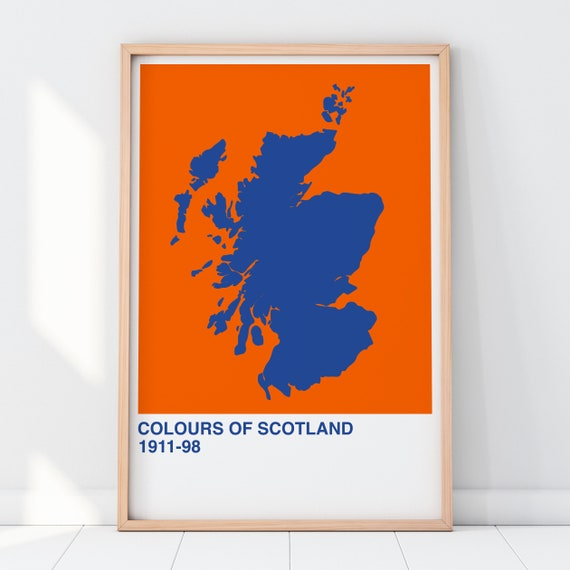 Colours Of Scotland Collection: Ginger Art Print, Scottish Map Print, Scottish Wall Art
