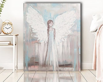 Angel PRINT Angel art Canvas art Angel Giclee PRINT on canvas and paper from the original oil paintings Art abstract angel in many sizes