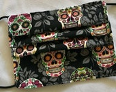 Sugar Skull Pleated Cotton Mask