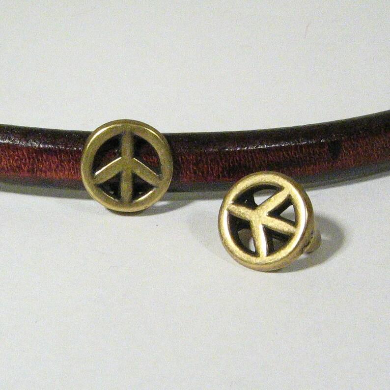 Antique Brass Choose Your Quantity SP34 Regaliz Peace Symbols