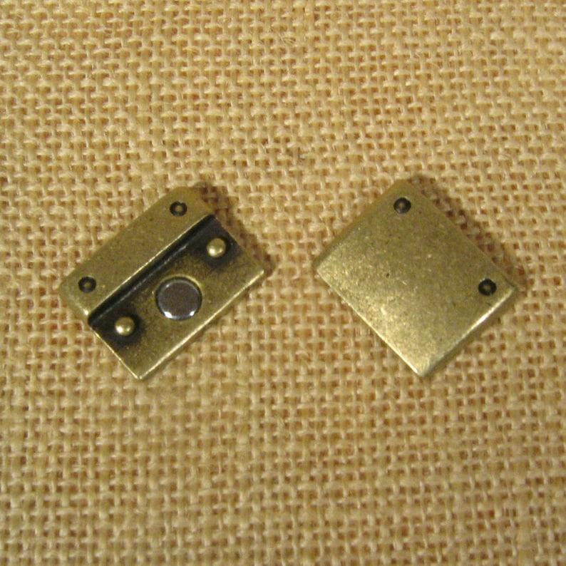 Rivet Detail 20mm Flat Leather Clasps Antique Brass Choose Your Quantity