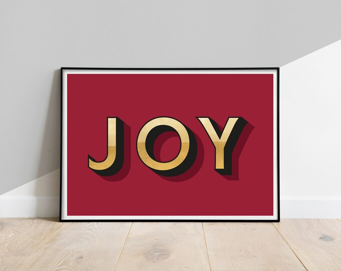 Featured listing image: JOY Art Print