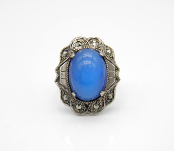 Antique Art Deco Sterling Silver Ring