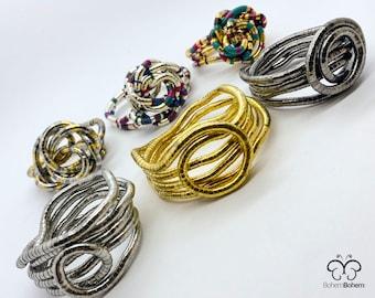 Bendable Snake necklace, Statement jewelry, Vintage Bib Necklace, Snake Bracelet, flexible twisty necklace, snake choker, gift for her