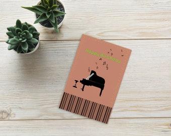 Brown piano Standard Postcard