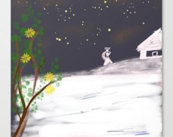 The Snow Collection- Starry snow in the night