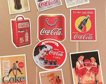 10 retro wow soda stickers