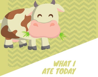 What I ate today - printable journal