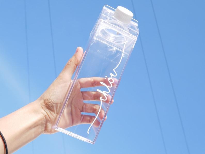 Milk Carton Acrylic Water Bottle Personalised   Etsy