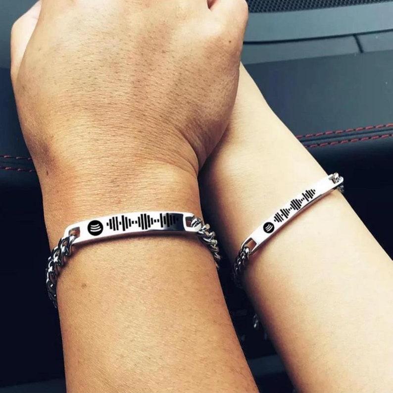 Spotify Coded Steel Bracelet Dear Combine Couple Bracelet 316L Stainless Steel