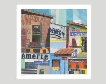 French sign collage poster  French wall art French Street Unframed print original poster affordable art old French signs French design