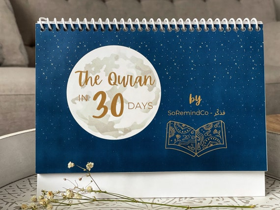 The Quran in 30 days calendar  Le Coran en 30 jours