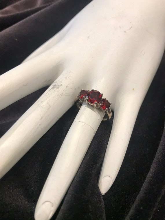RUBY SILVER RING - image 2