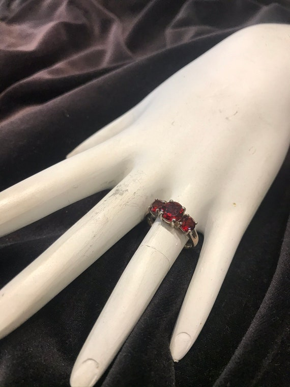 RUBY SILVER RING - image 1