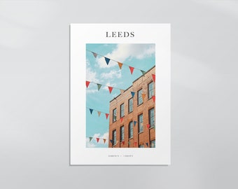 NEW - Union Bunting, University of Leeds Photography Print