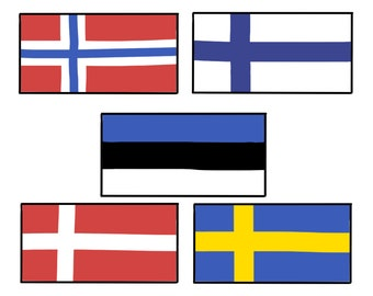 LARGE Sweden Flag Decal Sticker High-grade Quality Print Wall Art Decor for Home or Office Use Available Size up to 48x84-Inches CF090