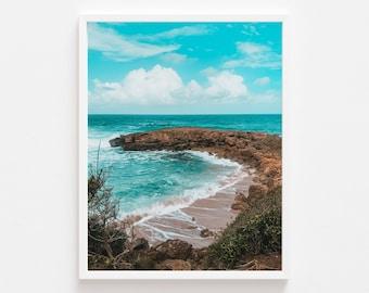 Beach inlet, Puerto Rico, Art photography, San Juan, Wall hanging, print decor, Caribbean, landscape, Decor