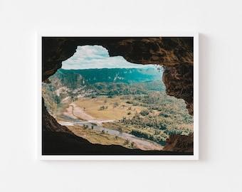 Cave island, cueva ventana, Puerto Rico, Wall art, print, Caribbean, landscape, Decor,