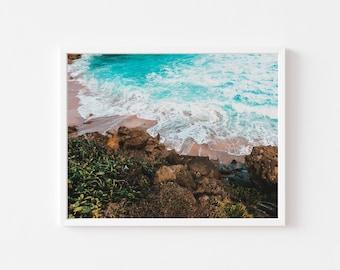 Rocky Beach, Puerto Rico, Wall art, print, Caribbean, landscape, Decor,