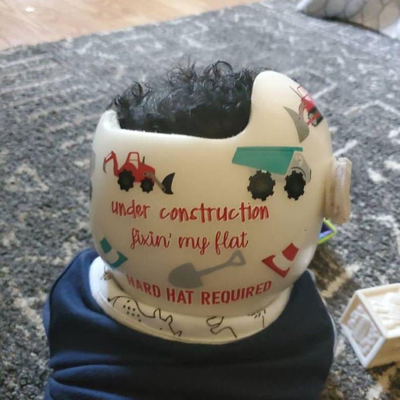 Plagiocephaly helmet Custom design wraps stickers decals for cranial helmet,doc band,star band hanger helmet flat head for boys and girls