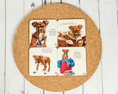 Boxer Puppy Plastic/Cork Coasters (set of 4)