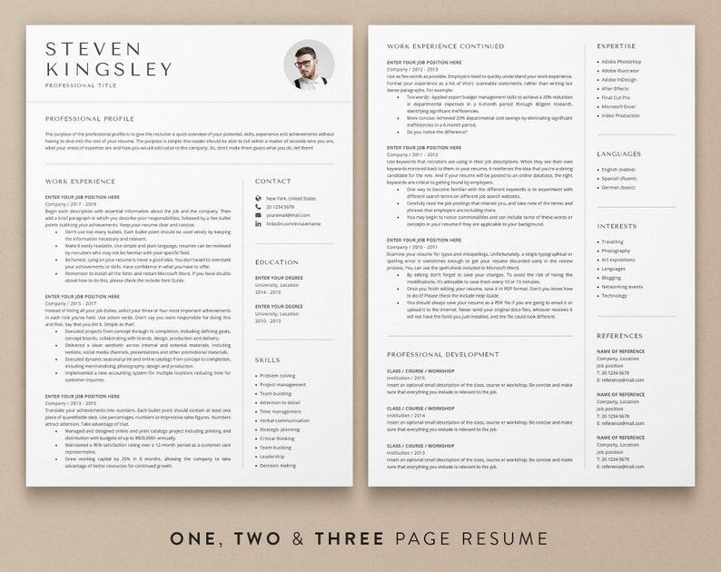 CV Template Word CV Template Professional Resume Template Mac CV Template With Photo Resume Template Word Lebenslauf Vorlage Cv Design